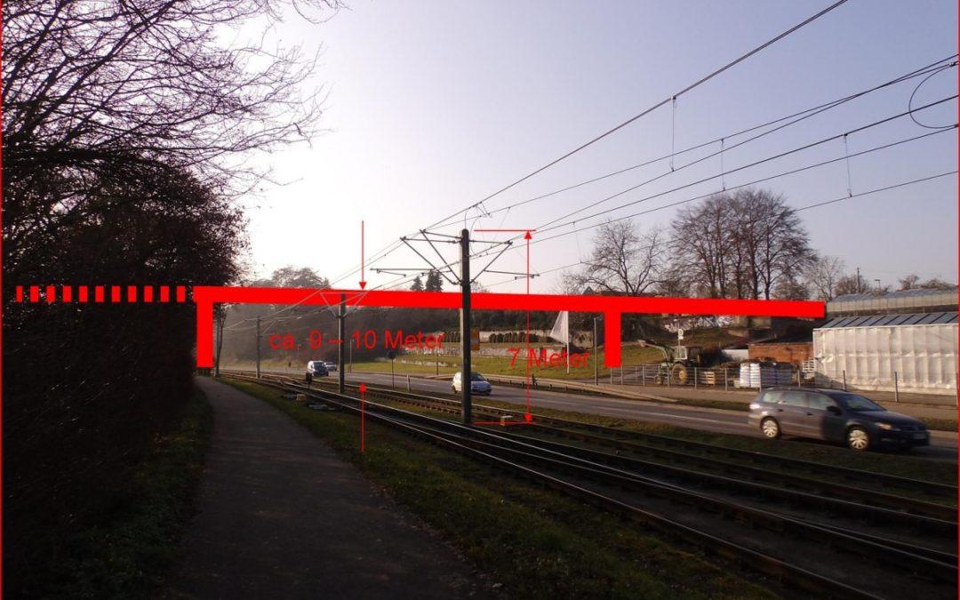 Die Westrandbrücke müss über die Stadtbahn geführt werden