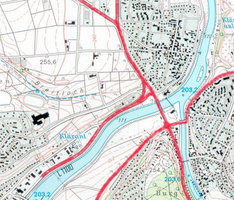 Die heutige Brücke als Nordostumgehung von Stuttgart