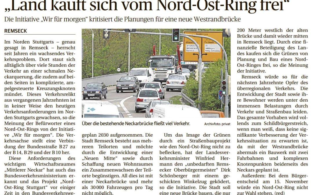 Land kauft sich vom Nord-Ost-Ring frei