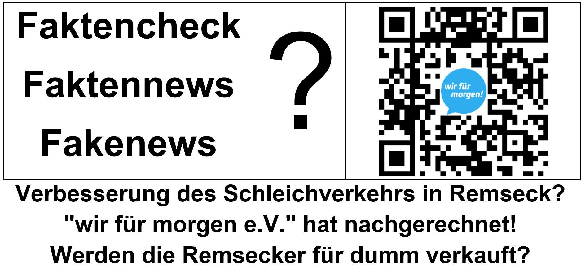 Fakten-Check Schleichverkehr